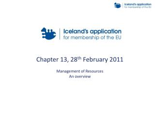 Chapter 13, 28 th  February 2011 Management of Resources An overview