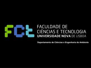 Departamento de Ciências e Engenharia do Ambiente