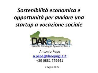 Sostenibilità economica e opportunità per avviare una startup a vocazione sociale