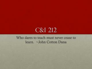 C&I 212