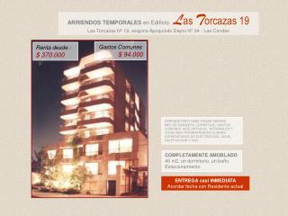 COMPLETAMENTE AMOBLADO 45 m2, un dormitorio, un baño Estacionamiento