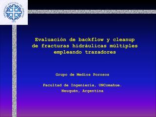 Evaluación de backflow y cleanup de fracturas hidráulicas múltiples empleando trazadores