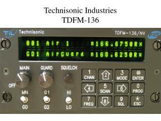 Technisonic Industries TDFM-136