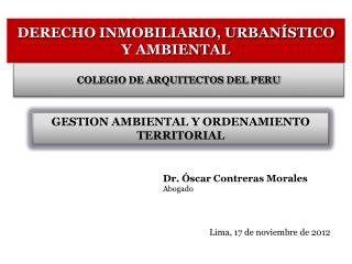 DERECHO INMOBILIARIO, URBANÍSTICO Y AMBIENTAL