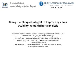 Using the Choquet Integral to Improve Systems Usability: A multicriteria analysis