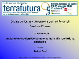 Ordine dei Dottori Agronomi e Dottori Forestali Provincia Firenze