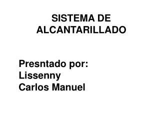 SISTEMA DE ALCANTARILLADO