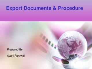 Export Documents & Procedure