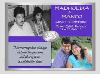 Their marriage has, with age,  matured like fine wine,  and after 25 years, It's celebration time!