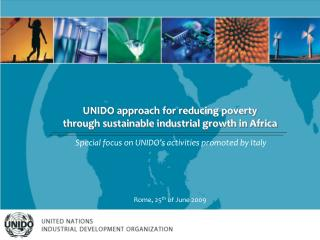 UNIDO approach for reducing poverty  through sustainable industrial growth in Africa