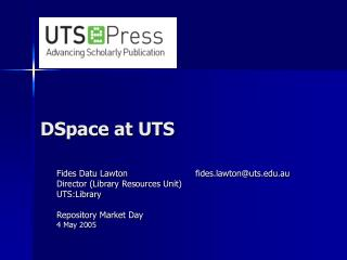 DSpace at UTS