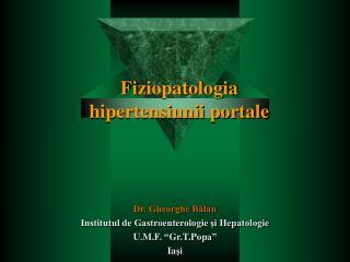 Fi ziopatologia  hipertensiunii portale