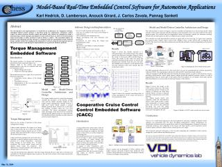 Abstract The development and implementation of model-driven architectures for integrated real-time, embedded, hybrid con
