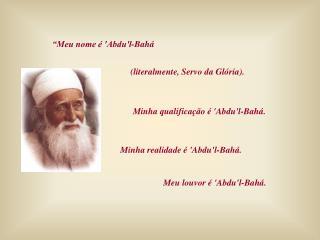 'Abdul'l-Bahá