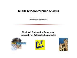 MURI Teleconference 5/28/04