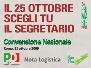 Convenzione Nazionale Roma, 11 ottobre 2009
