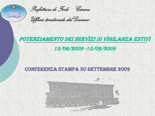 Conferenza Stampa 30 settembre 2009