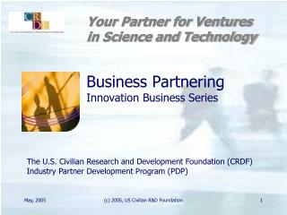 Business Partnering Innovation Business Series