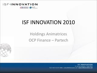 ISF INNOVATION 2010