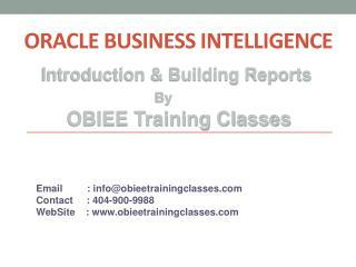 OBIEE Introduction &Building Reports by ObieeTrainingClasses
