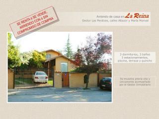 3 dormitorios, 3 baños 3 estacionamientos,  piscina, terraza y quincho