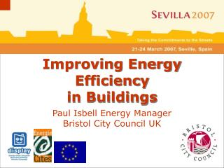 Paul Isbell Energy Manager Bristol City Council UK
