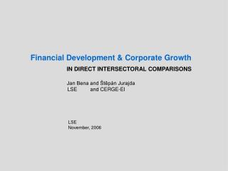 Financial Development & Corporate Growth