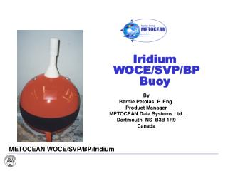 Iridium  WOCE/SVP/BP Buoy