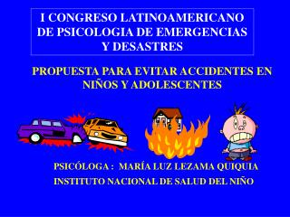 PROPUESTA PARA EVITAR ACCIDENTES EN NIÑOS Y ADOLESCENTES