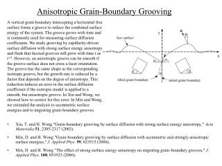Anisotropic Grain-Boundary Grooving