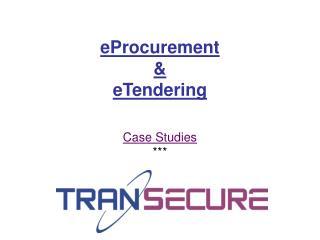 EProcurement  eTendering
