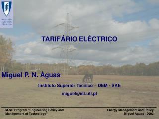 TARIFÁRIO ELÉCTRICO