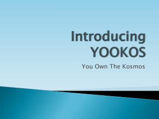 Introducing YOOKOS