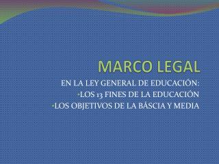 MARCO LEGAL
