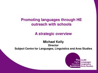 Promoting languages through HE outreach with schools
