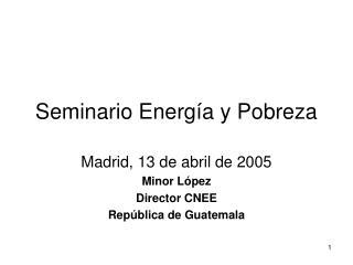 Seminario Energía y Pobreza