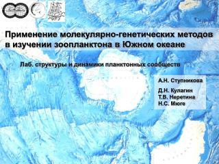 Применение молекулярно-генетических методов  в изучении зоопланктона в Южном океане
