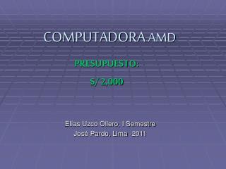 COMPUTADORA  AMD