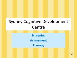 Sydney Cognitive Development Centre