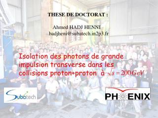 Isolation des photons de grande impulsion transverse dans les collisions protonproton