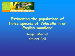 Estimating the populations of three species of  Volucella  in an English woodland