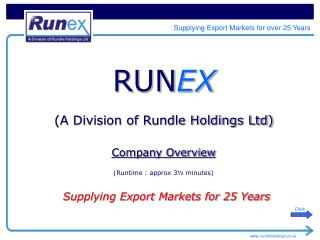 RUN EX (A Division of Rundle Holdings Ltd)