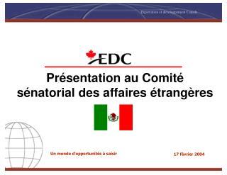 Présentation au Comité sénatorial des affaires étrangères