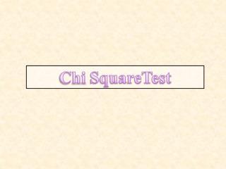 Chi SquareTest