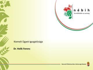 Dr.  Helik  Ferenc
