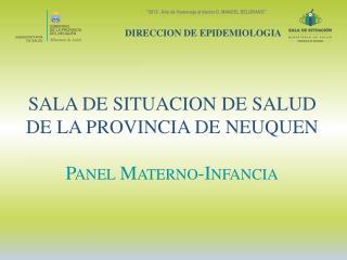 SALA DE SITUACION DE SALUD  DE LA PROVINCIA DE NEUQUEN Panel Materno-Infancia