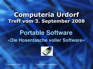 Computeria Urdorf Treff vom  3. September 2008