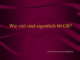 Wie viel sind eigentlich 60 GB?