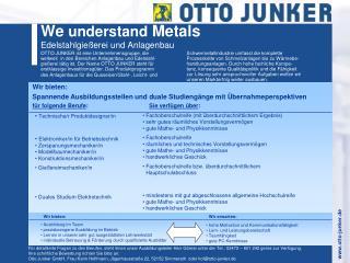 We  understand  Metals Edelstahlgießerei und Anlagenbau