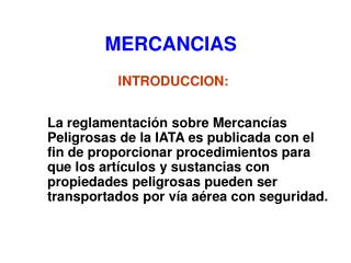 MERCANCIAS